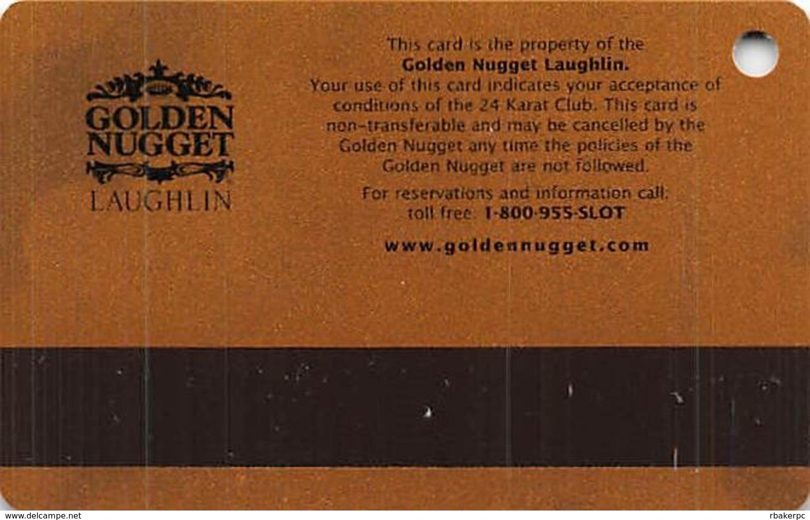 Golden Nugget Casino Laughlin, NV - Slot Card - No Manufacturer Mark - Casino Cards