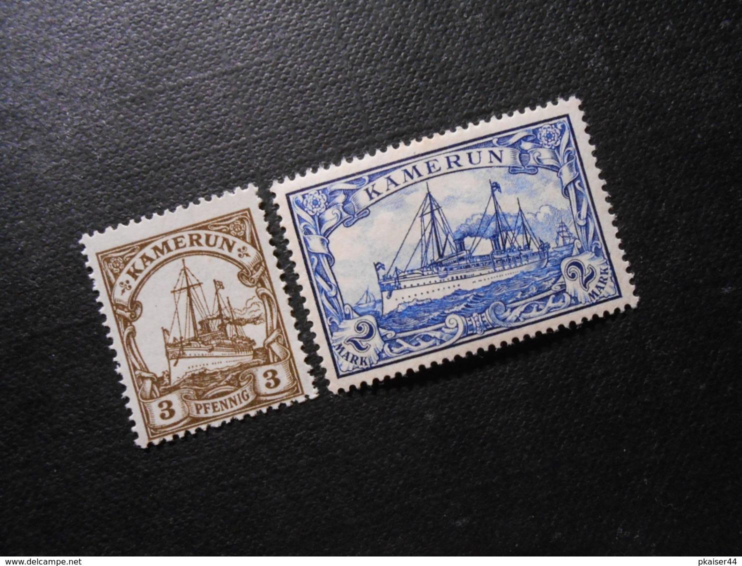 D.R.Mi 7/17  3Pf/ 2M*MLH - Deutsche Kolonien ( Kamerun ) 1900 - Mi 8,50 € - Colony: Cameroun