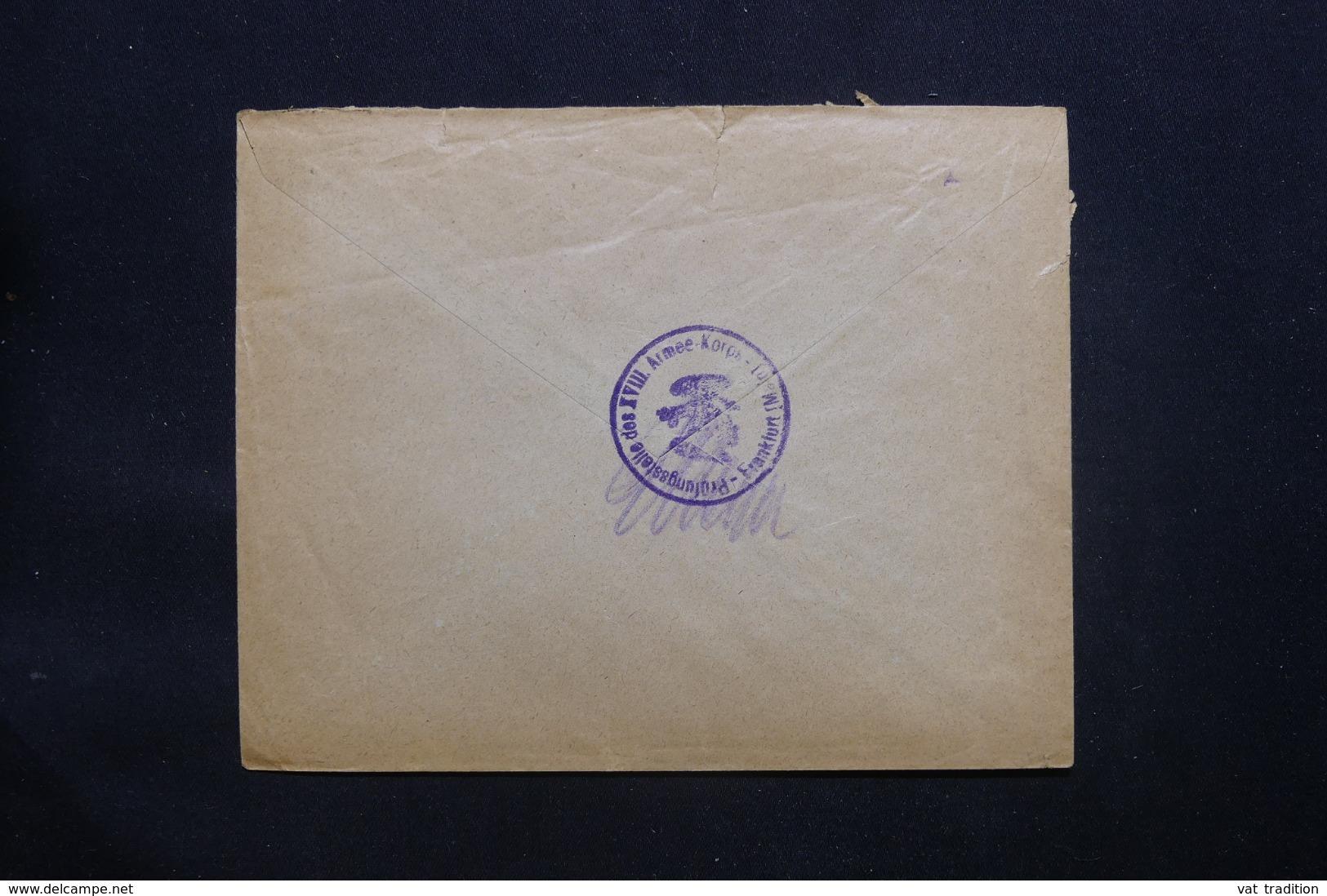 ALLEMAGNE - Enveloppe Pour Anvers Avec Cachet De Contrôle De Frankfurt - L 43090 - Covers & Documents