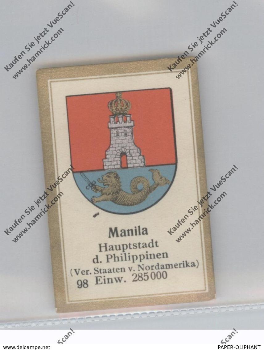 PHILIPPINEN - MANILA, Stadtwappen, Abdullah Vignette / Cinderella - Philippinen