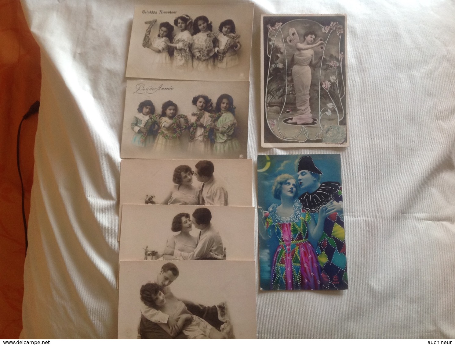 Lot 7 Cartes Romance, KNI - Phantasie