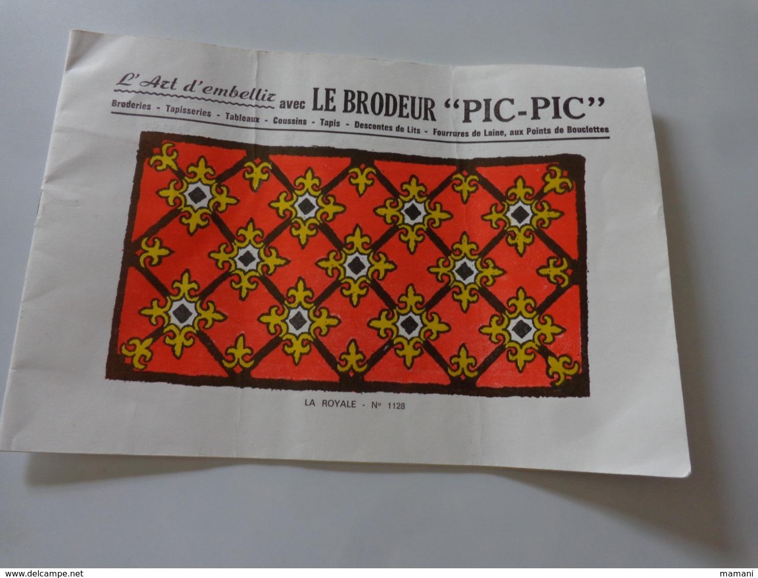 Notice D'utilisation, Modèles Et Conseils, Le BRODEUR PIC-PIC - Creative Hobbies