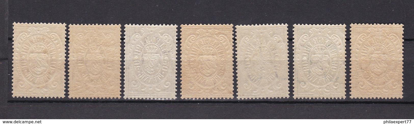 Bayern - 1876 - Telegrafenmarken - Michel Nr. 16/21 - Postfrisch - Bayern