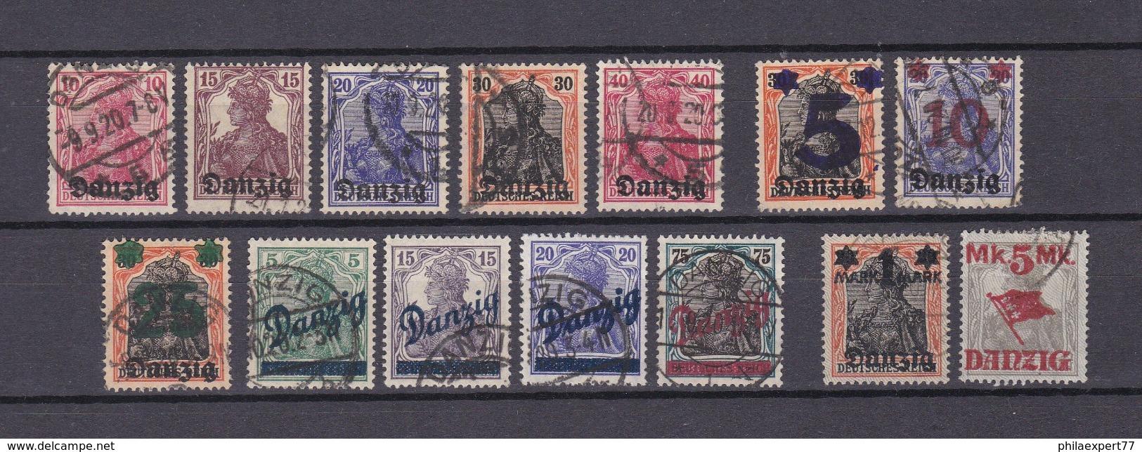 Danzig - 1920 - Sammlung - Gest. - 63 Euro - Danzig
