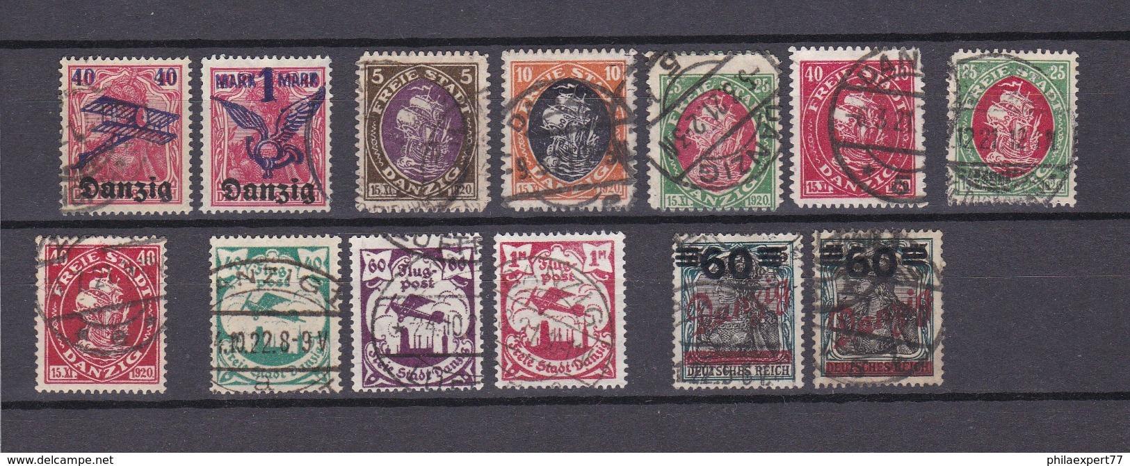 Danzig - 1920/21 - Sammlung - Gest. - 56 Euro - Danzig