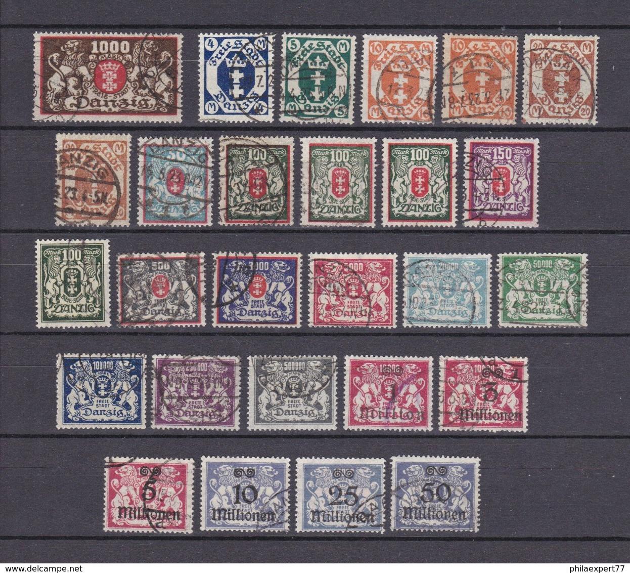 Danzig - 1923 - Sammlung - Gest. - 193 Euro - Danzig