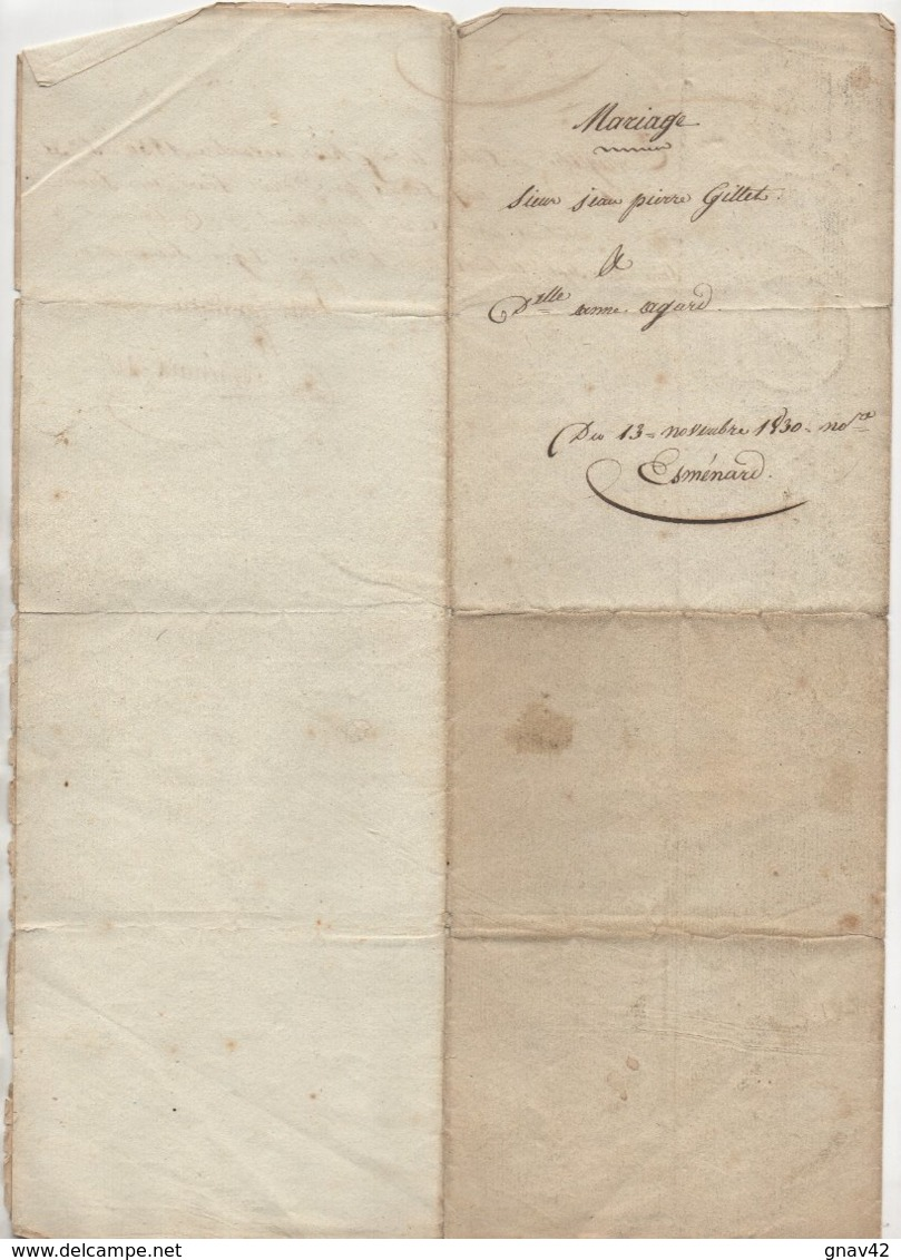 Grans Bouches Du Rhône Mariage 1830 - Manoscritti