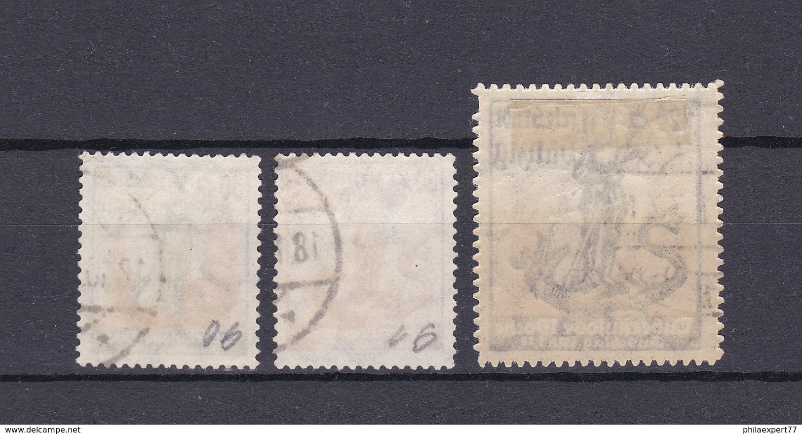 Danzig - 1921 - Michel Nr. 90/92 - Gest. - 400 Euro - Danzig