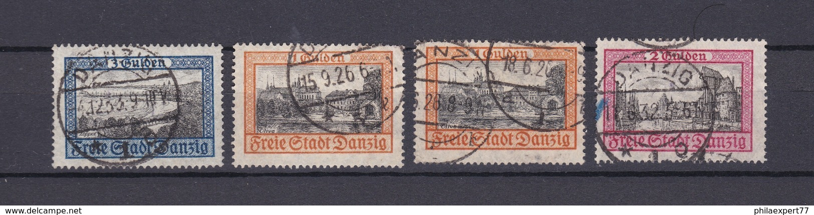 Danzig - 1924/32 - Michel Nr. 209+212/13 - Gest. - 36 Euro - Danzig
