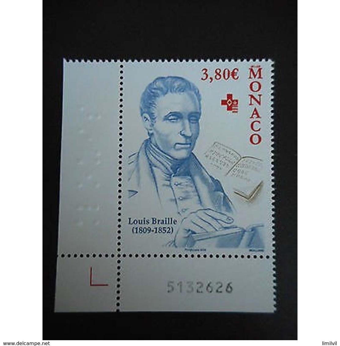 Timbre N° 2677 Neuf ** - Louis Braille - Monaco