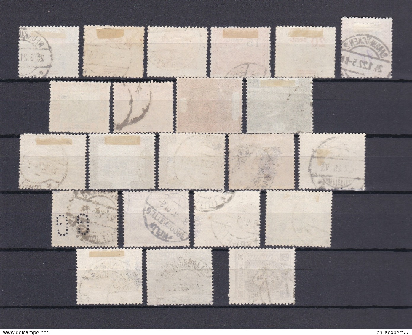 Saargebiet - 1921/25 - Sammlung - Gest. - 1920-35 Saargebiet – Abstimmungsgebiet