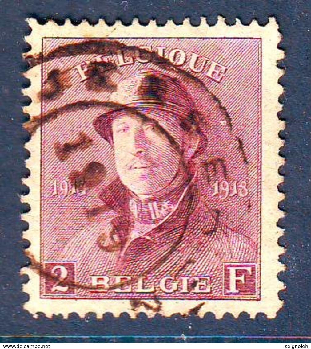 Belgique N° 176 Obl TTB , Cote COB 410 Euros , Roi Casque , RARE !!!!! - Used Stamps