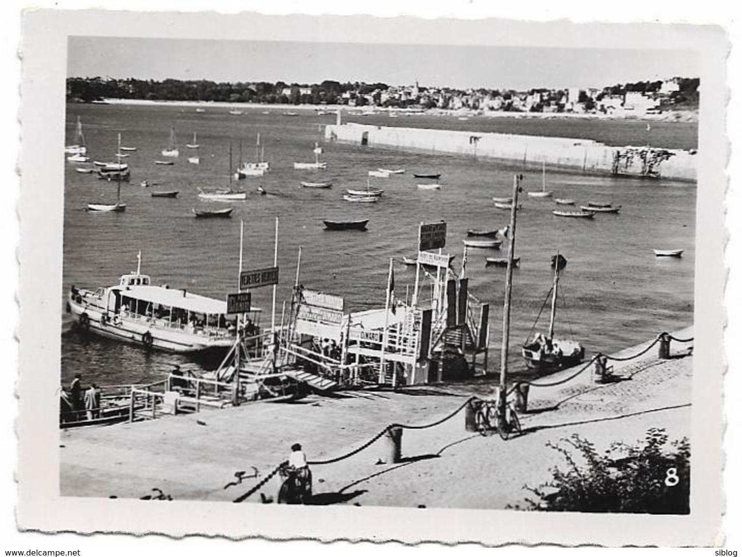 PHOTO De Pochette - SAINT MALO - L'embarcadère Des Vedettes Pour Dinard -  FT 8,5 X 6,5 Cm - Plaatsen