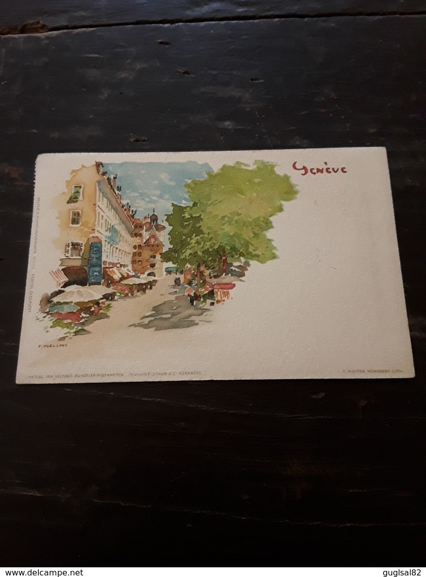 Cartolina Postale Illustrata, Postcard 1900, Genève, Illustration F. Voellmy - GE Genève