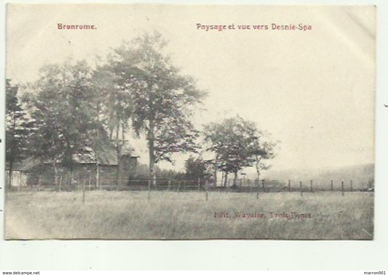 Bronrome - Paysage Ey Vue Vers Desnie- Spa  , 2 Scans - Theux