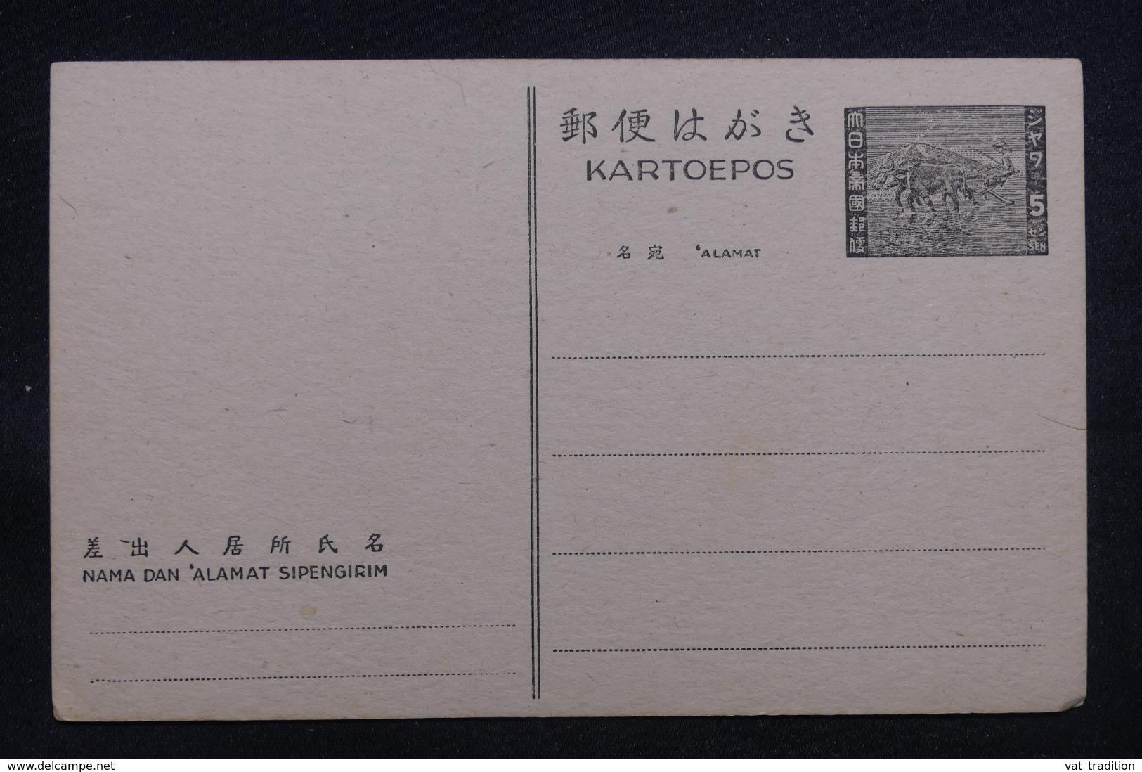 MALAISIE - Entier Postal Occupation Japonaise , Non Circulé - L 43191 - Gran Bretaña (antiguas Colonias Y Protectorados)