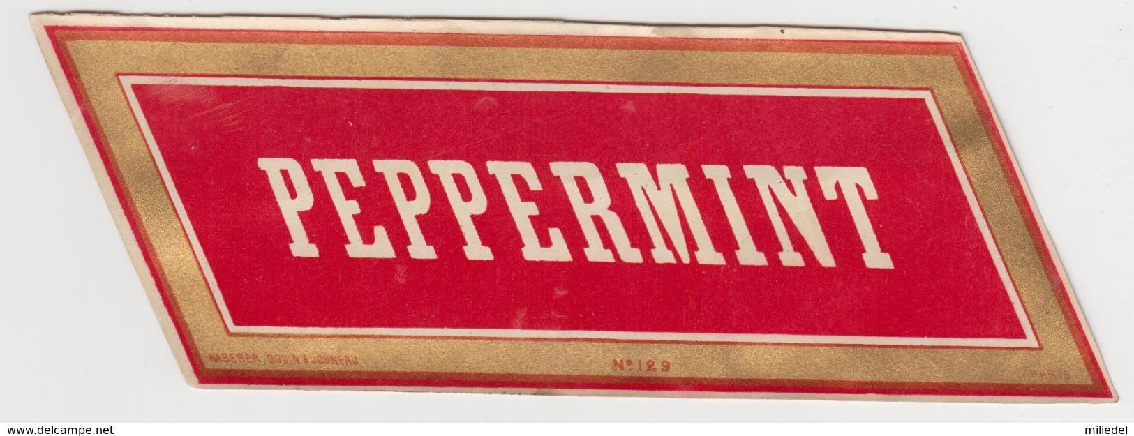 BB915 - Etiquette Ancienne PEPPERMINT - Other Bottles
