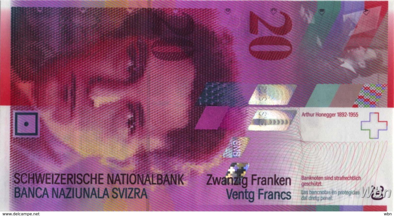 Suisse 20 Francs (P69e) 2008 -UNC- - Suiza