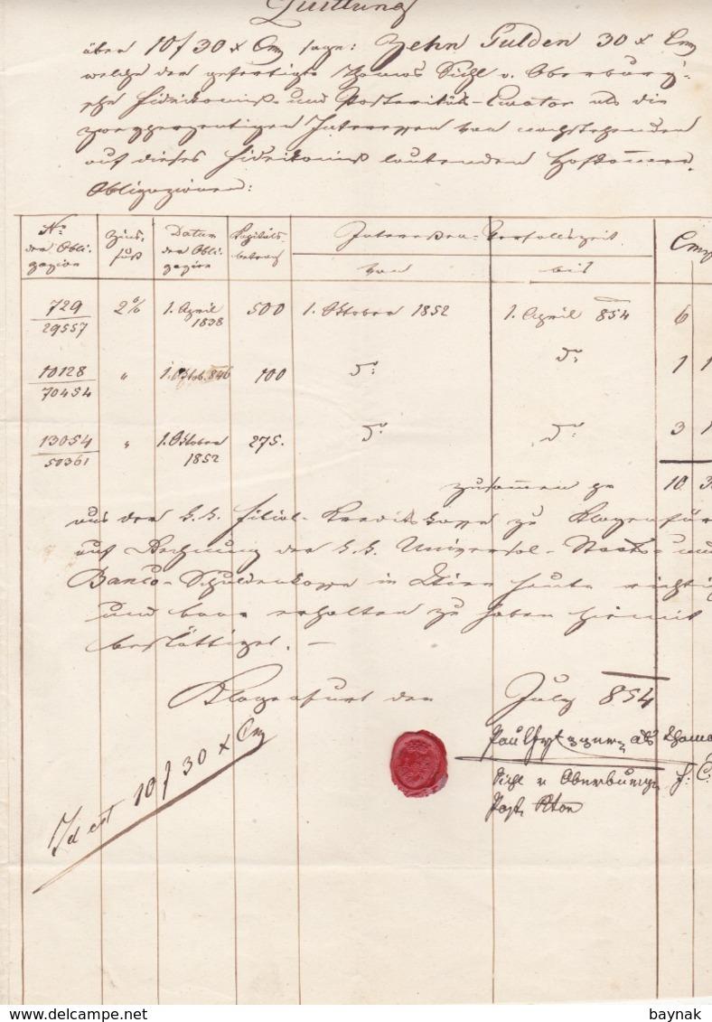 QUITTUNG, FACTURA  --  KLAGENFURT  -    1854 - Österreich