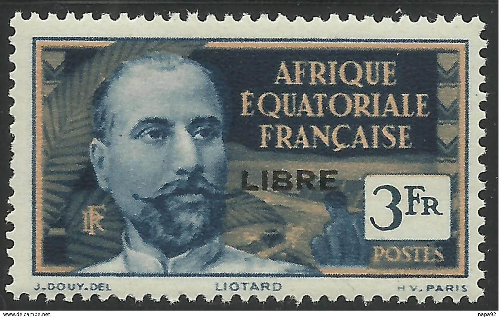 AFRIQUE EQUATORIALE FRANCAISE - AEF - A.E.F. - 1941 - YT 124** - Ungebraucht