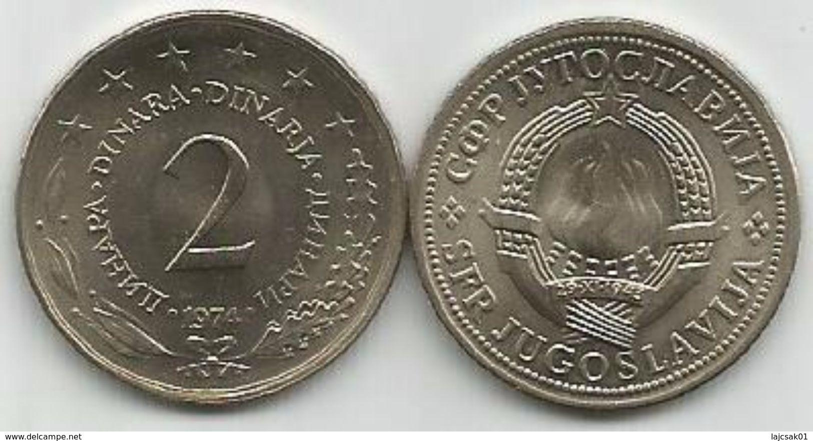 Yugoslavia 2 Dinara 1974. UNC KM#57 - Joegoslavië