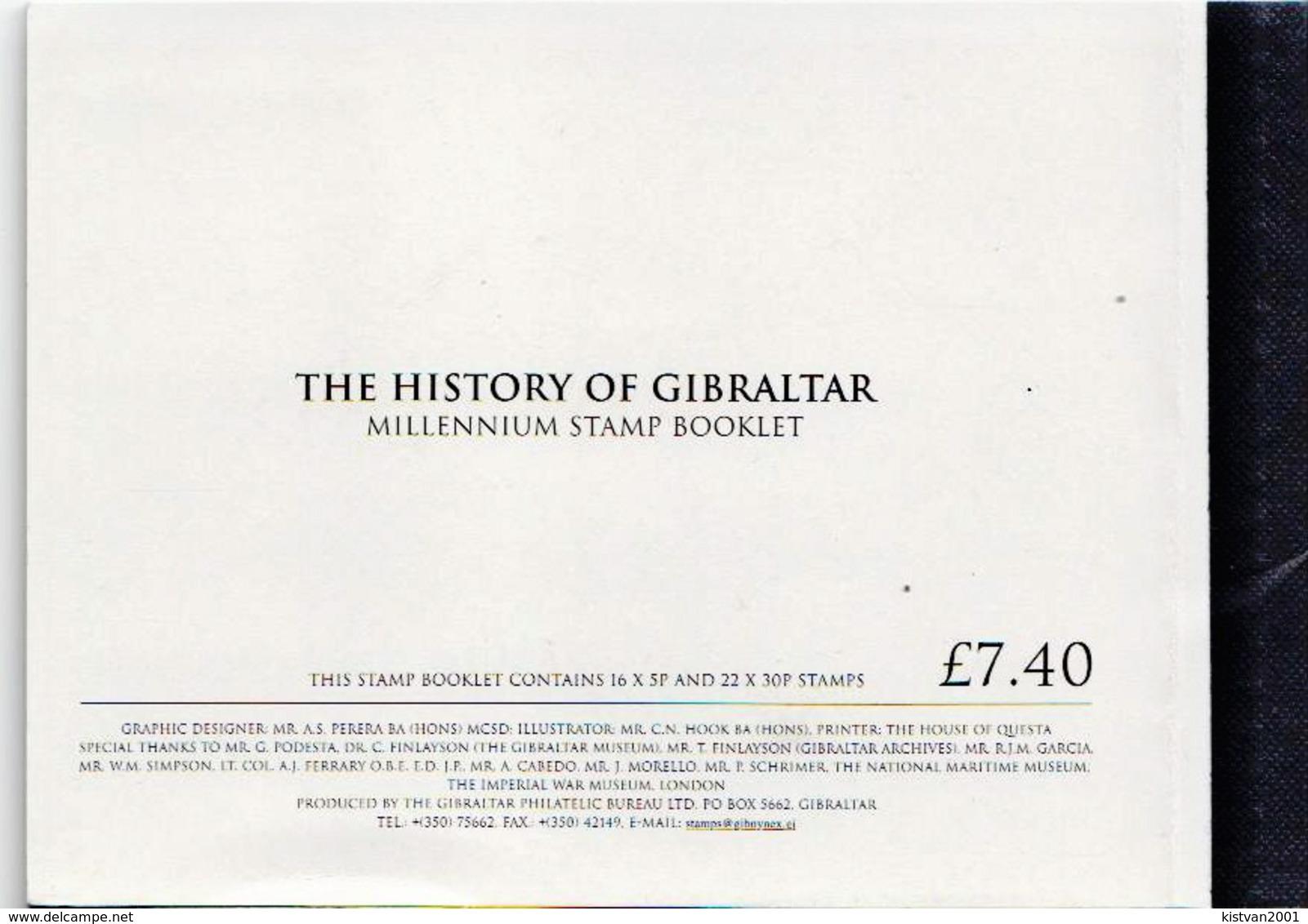 Gibraltar Millennium Cancelled Booklet - History
