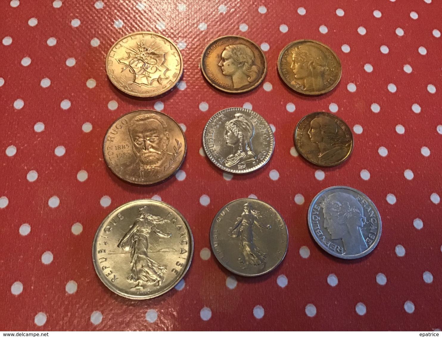 LOT DE 9 Pièces FRANCE - Munten & Bankbiljetten