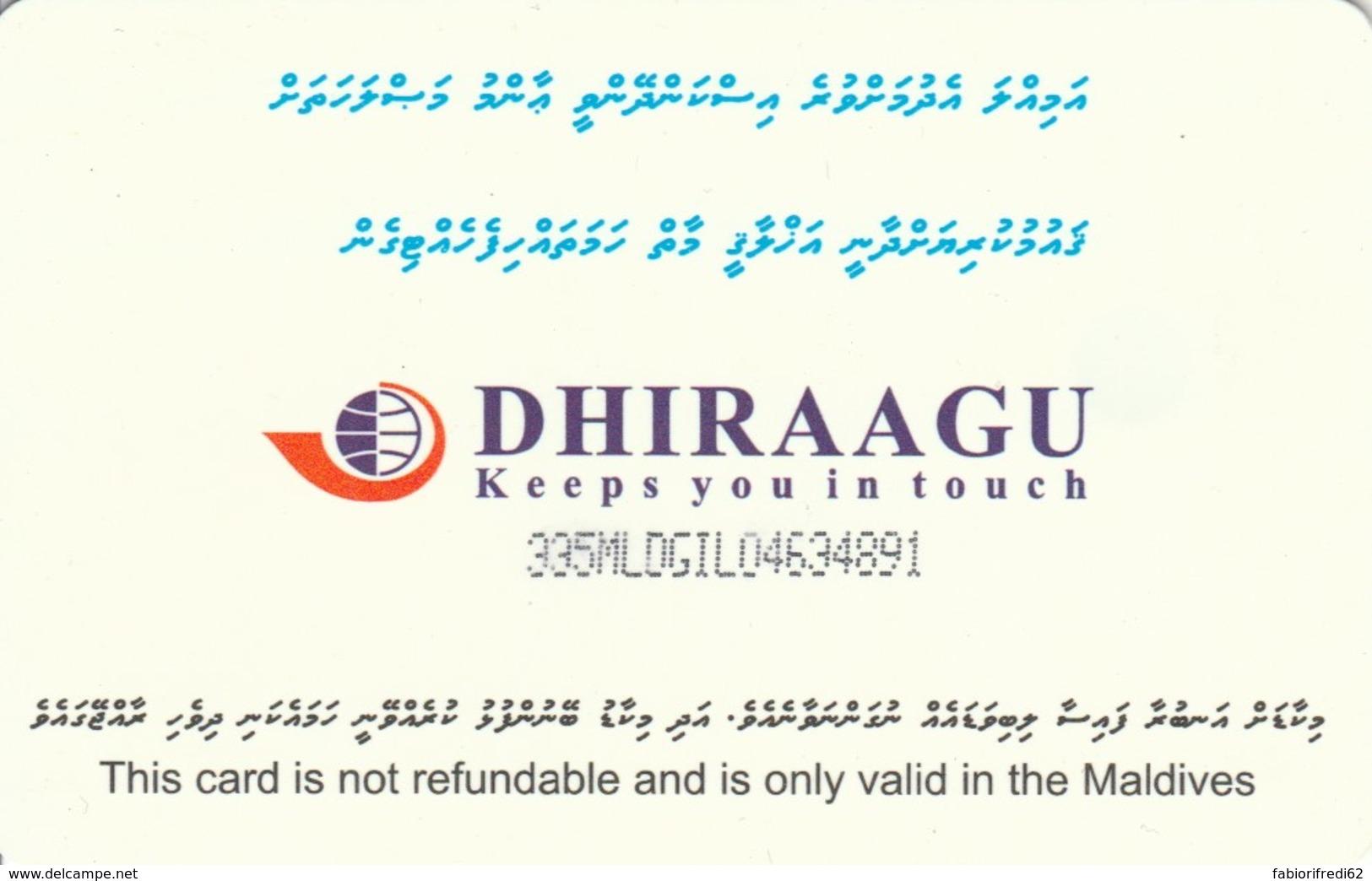 PHONE CARD MALDIVE (E52.7.5 - Maldiven