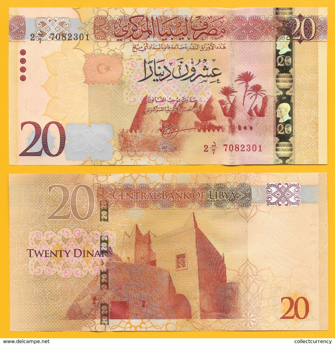 Libya 20 Dinars P-83 2016 UNC Banknotes - Libya