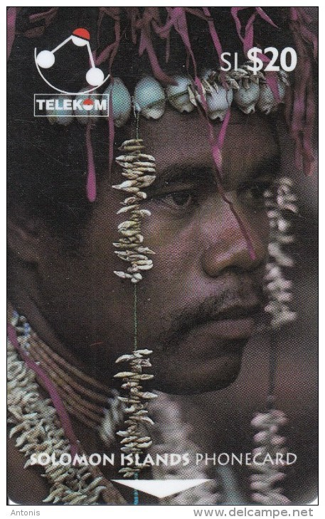 SOLOMON ISL.(GPT) - Man From Santa Ana Island, CN : 02SDB/B, Used - Isole Salomon