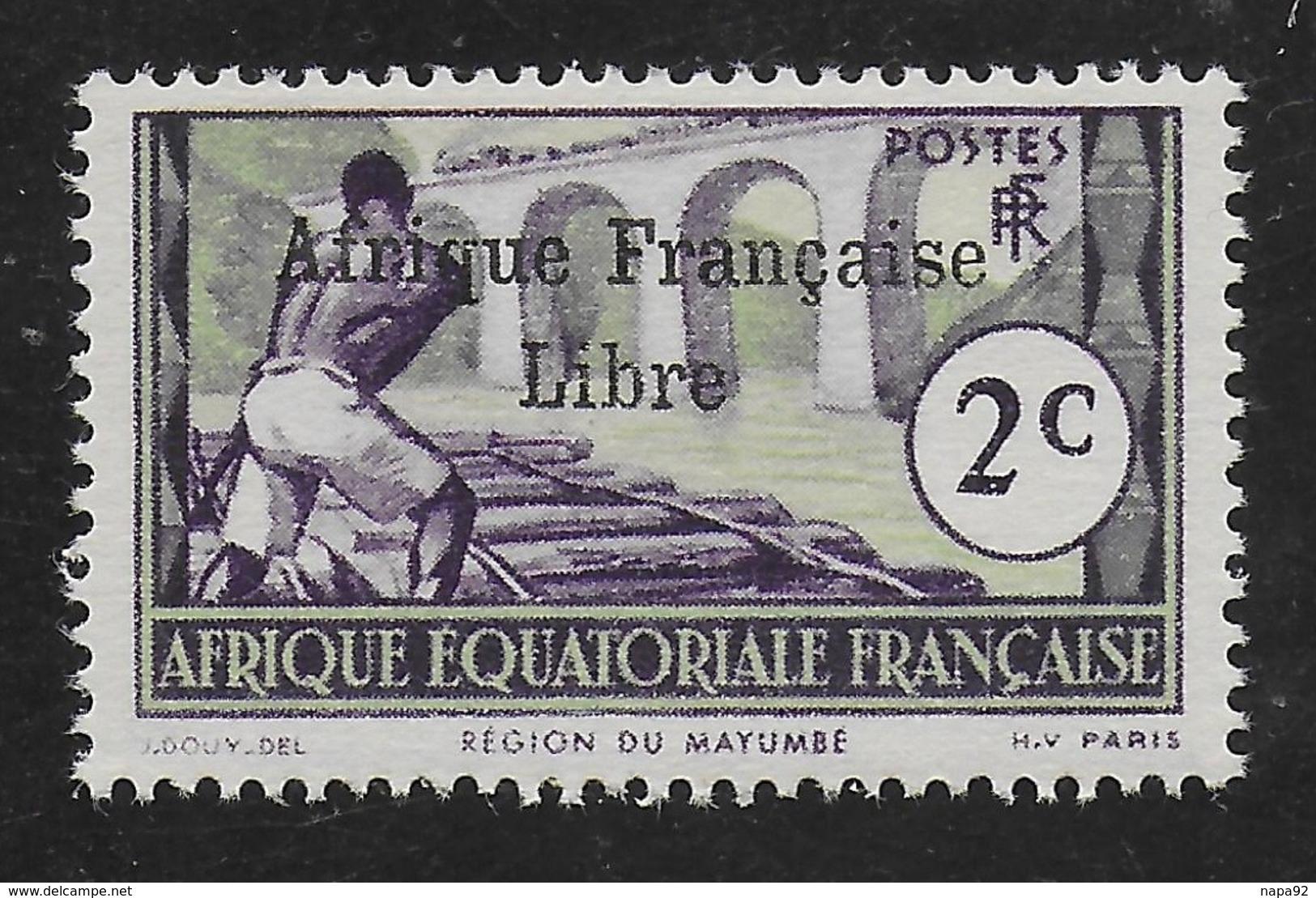 AFRIQUE EQUATORIALE FRANCAISE - AEF - A.E.F. - 1941 - YT 157** AVEC VARIETE - Neufs
