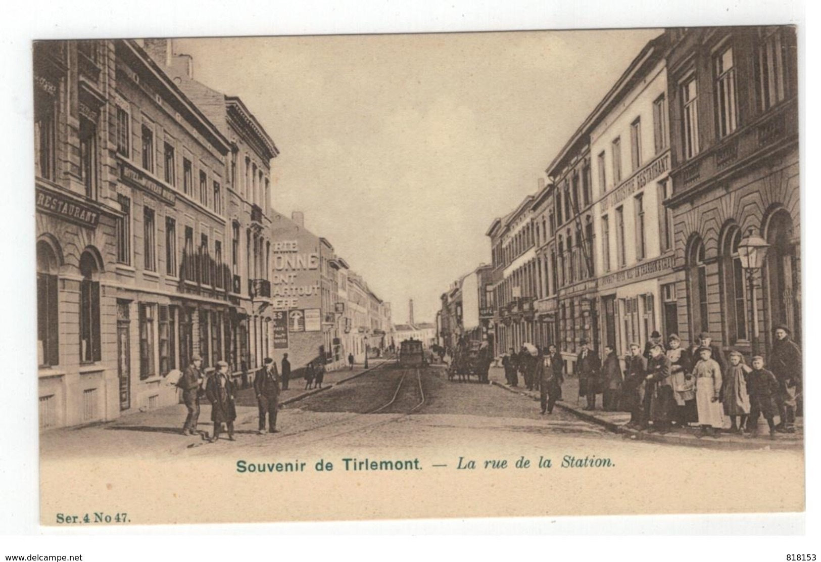 Tienen  Souvenir De Tirlemont  - La Rue De La Station - Tienen