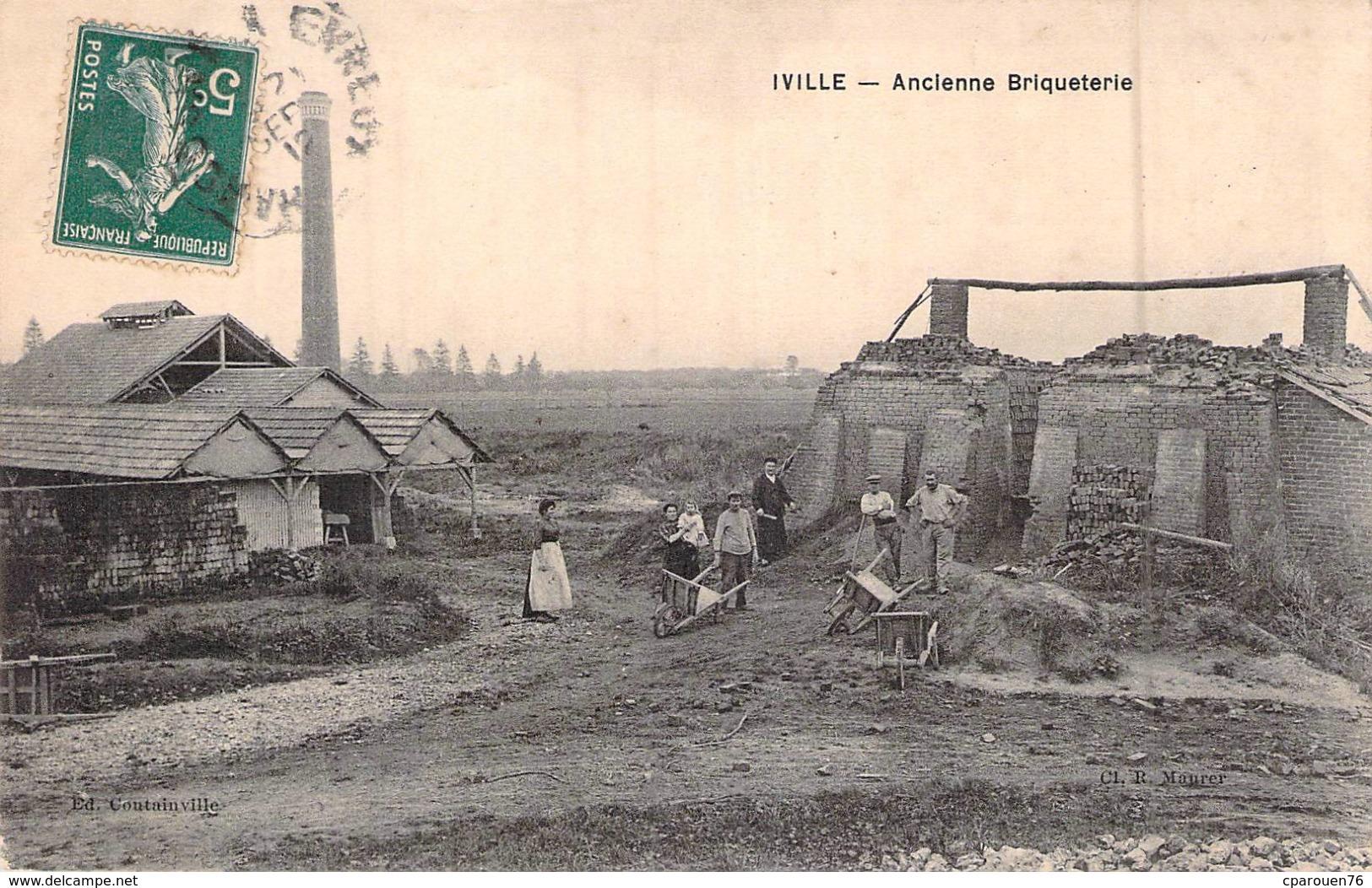 C P A 27] Eure  Iville Ancienne Briquetterie - Francia