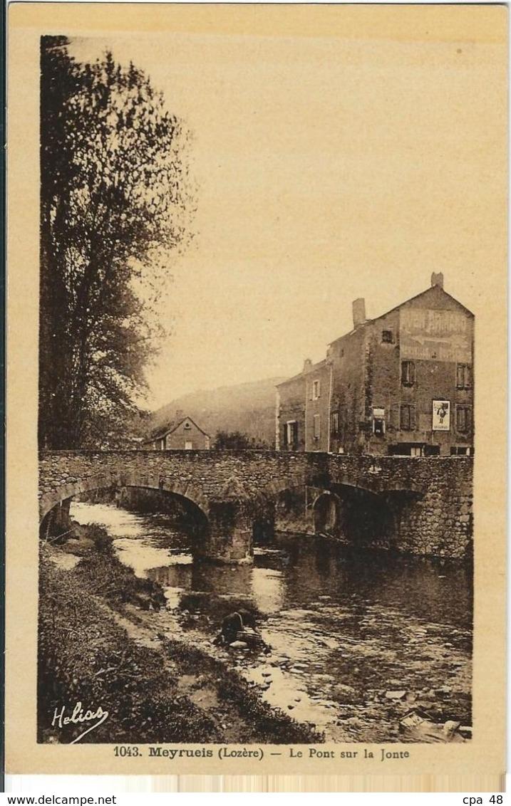 Lozère : Meyrueis, Le Pont Sur La Jonte - Meyrueis