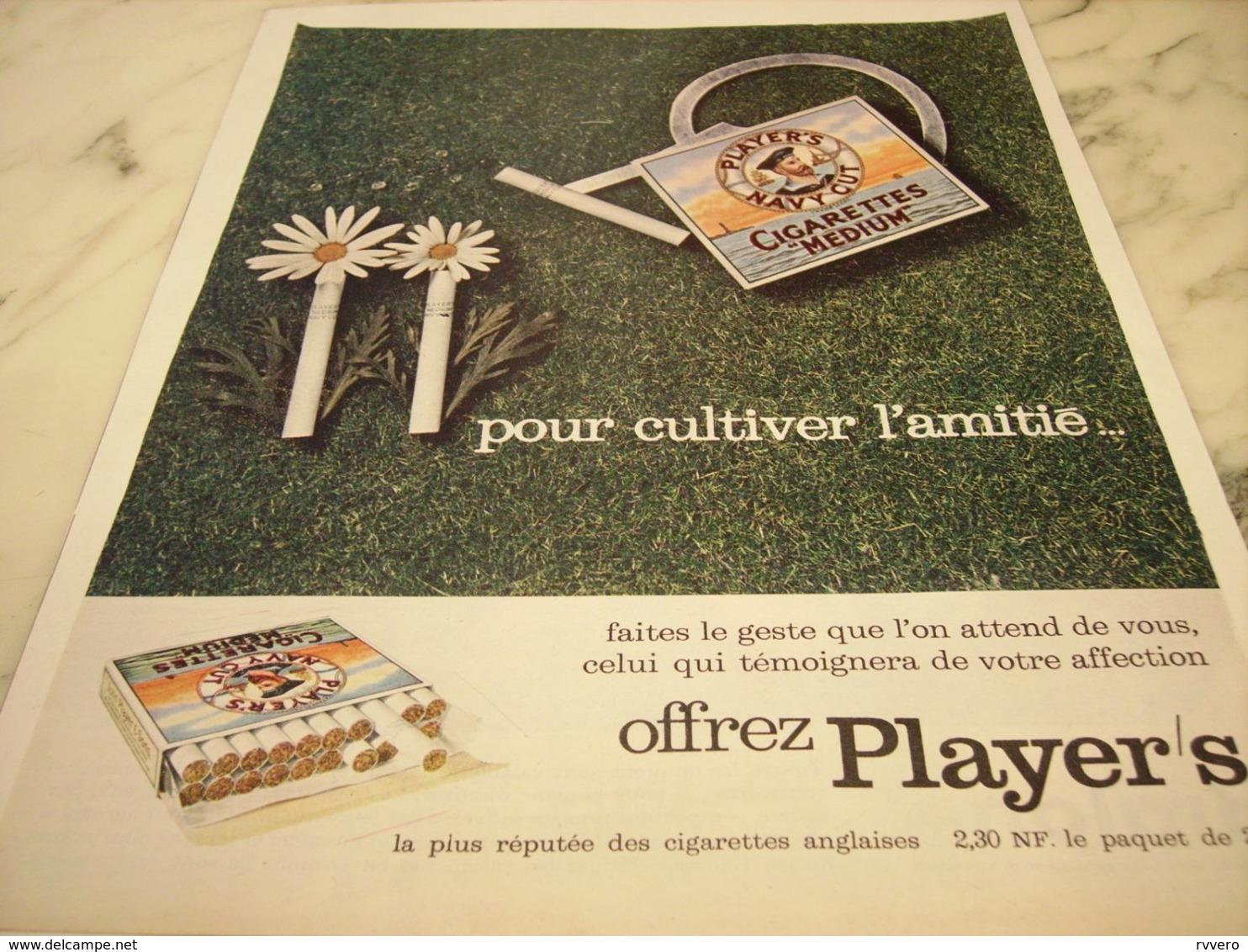 ANCIENNE PUBLICITE   CUTIVER L AMITIE CIGARETTE  MEDIUM PLAYER S 1961 - Sonstige