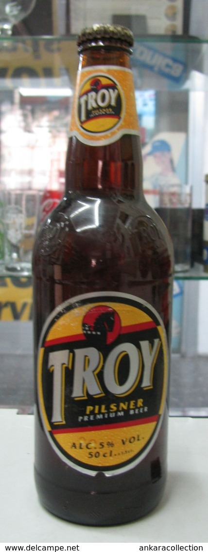 AC - TROY BEER VINTAGE BOTTLE Production Date : 06 July 2001 Expiry Date : 06 July 2002 BOTTLE MUST BE EMPTIED - Cerveza