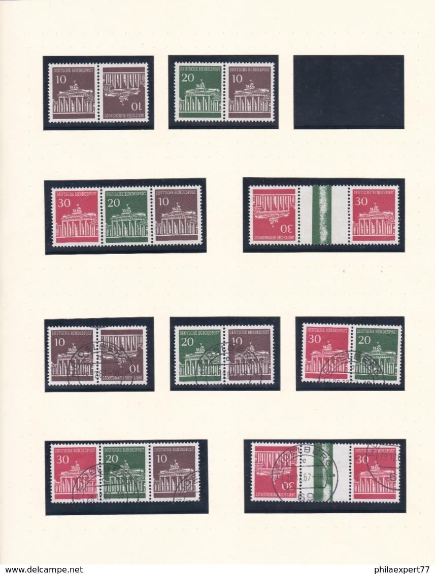 BRD - 1967/68 - Zusammendrucke - Sammlung - Postfrisch/Gest. - Zusammendrucke