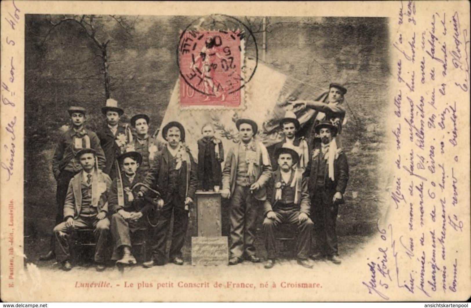 Cp Luneville Meurthe Et Moselle, Le Plus Petit Conscrit De France - France