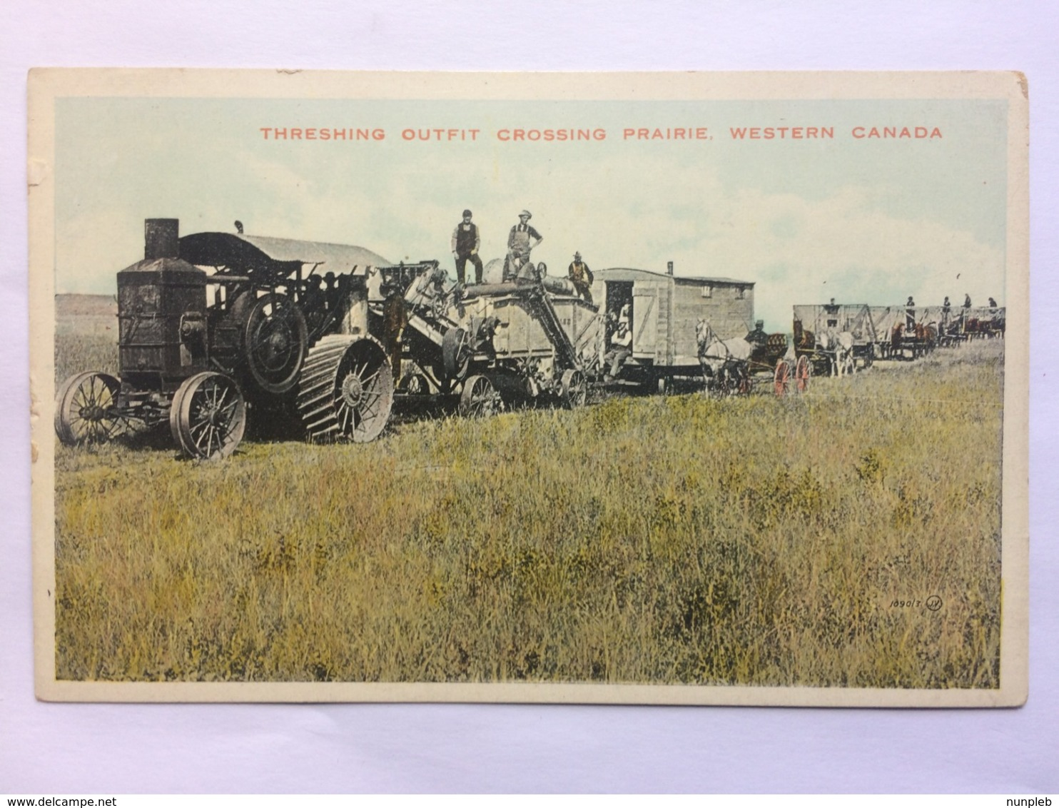 CANADA - Threshing Outfit Crossing Prairie - Western Canada - Valentine Series - Unclassified