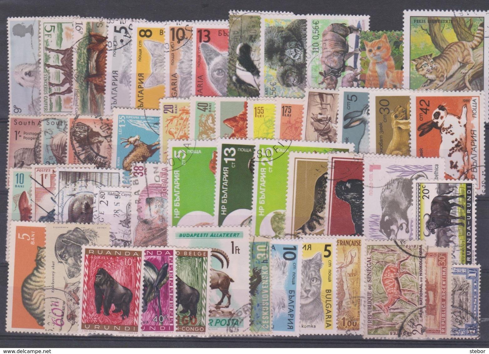 Wereld Dieren Kleine Verzameling G, Mooi Lot K987 - Timbres