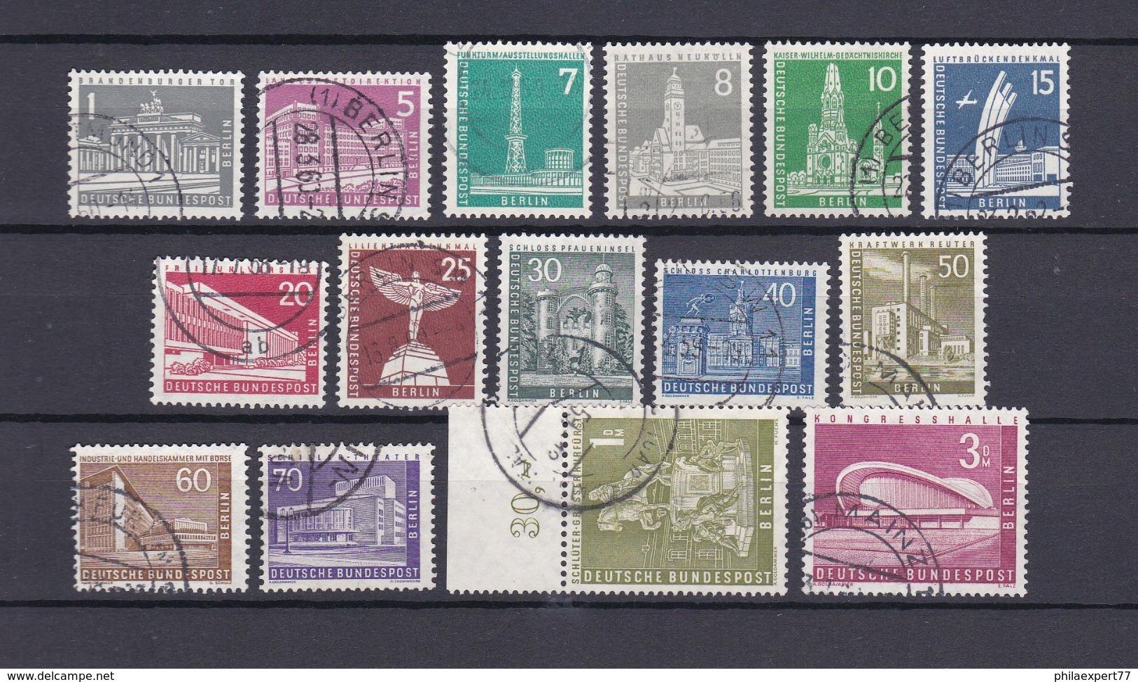 Berlin - 1956/62 - Michel Nr. 140/154 - Gest. - 54 Euro - Berlin (West)