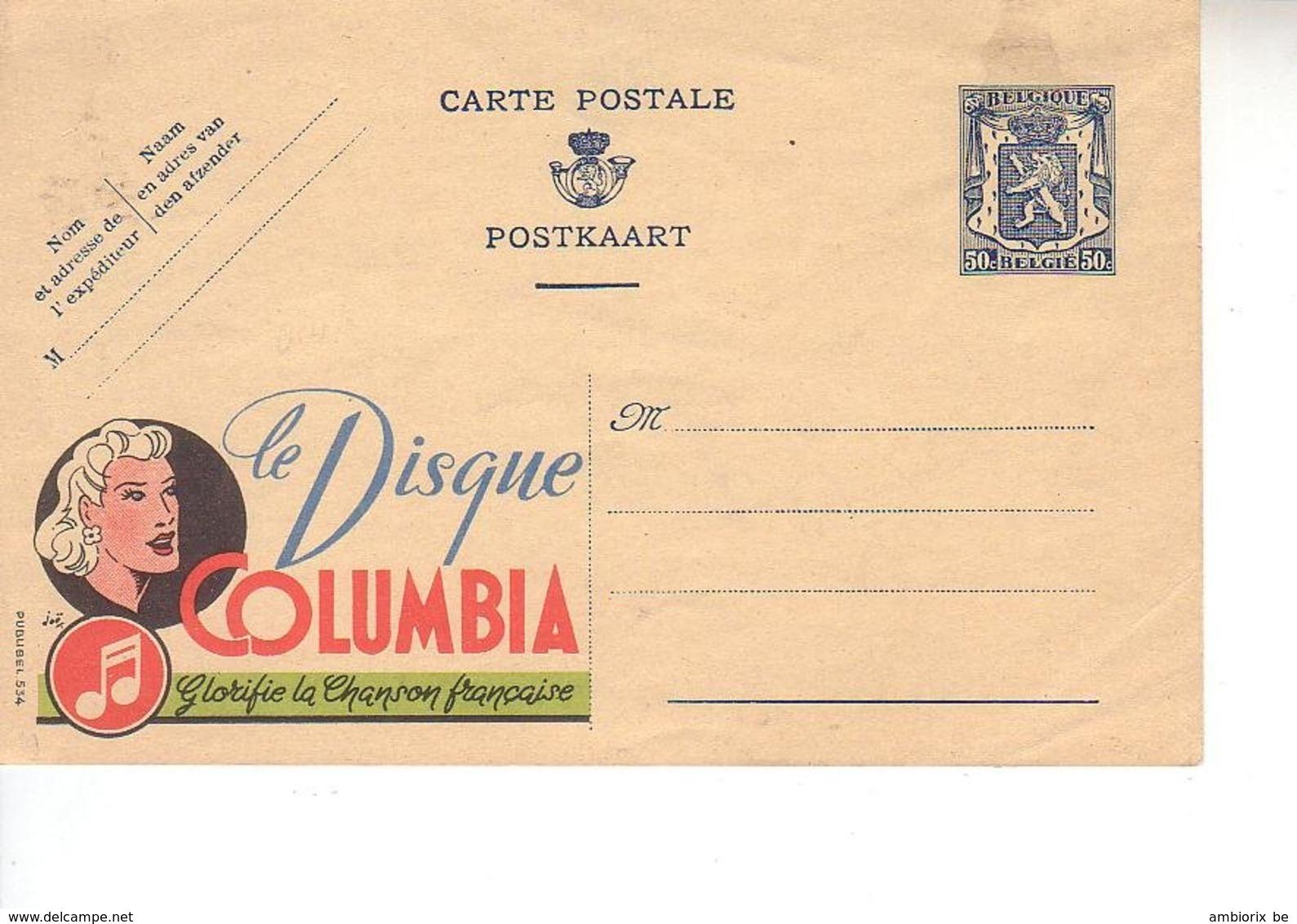 Publibel Neuf 554 - Second Choix - Voir Description - Enteros Postales