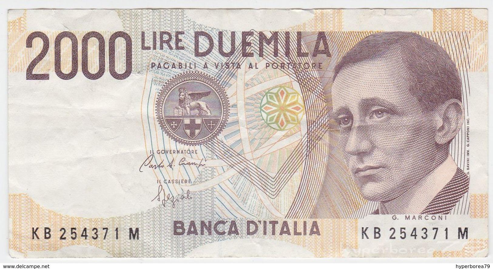 Italy P 115 - 2000 2.000 Lire 3.10.1990 - VF - 2000 Lire