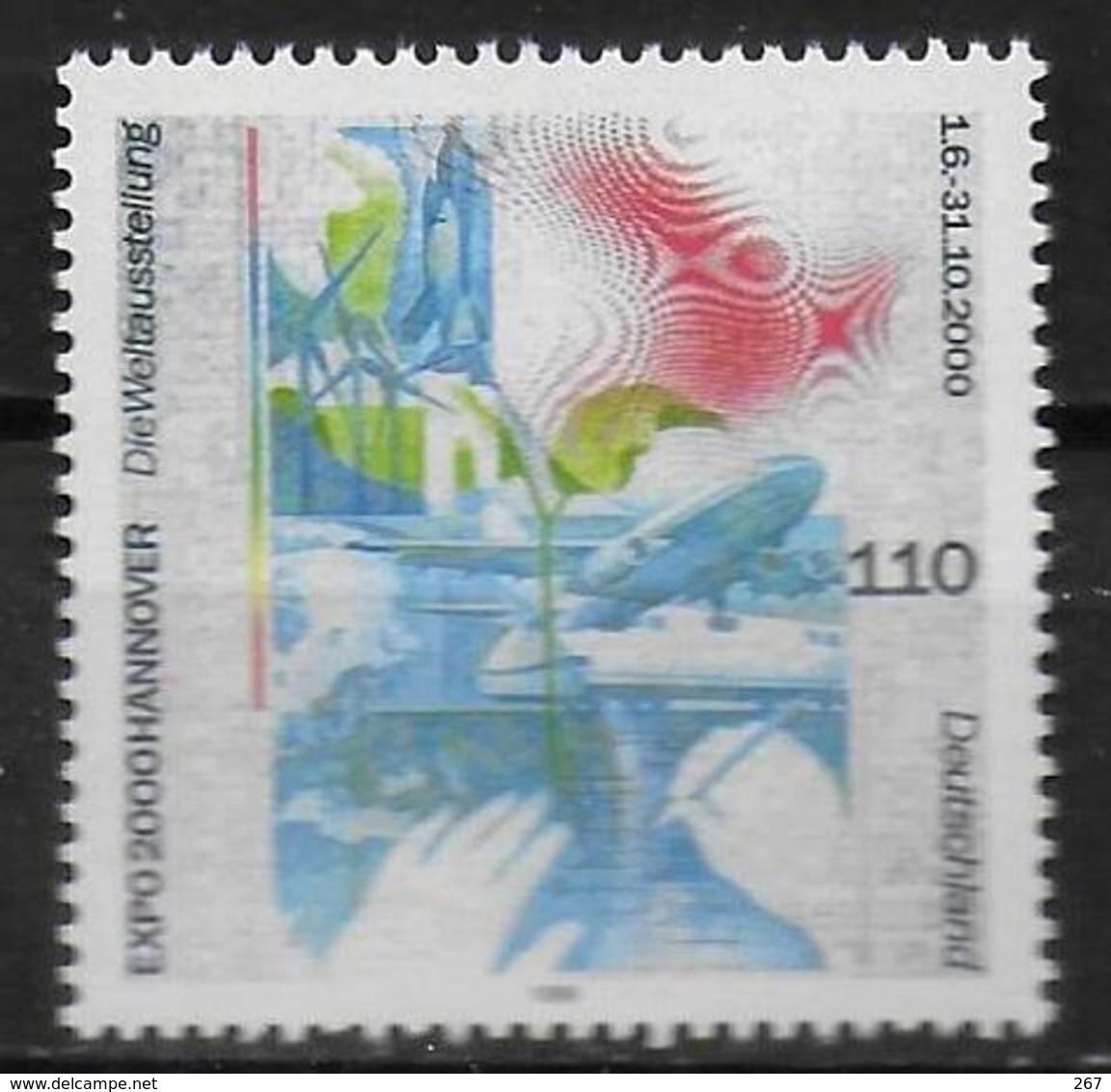 ALLEMAGNE  N°  1874  * *    Exposition Universelle A Hannovre L Homme Et La Nature - 2000 – Hanover (Germany)