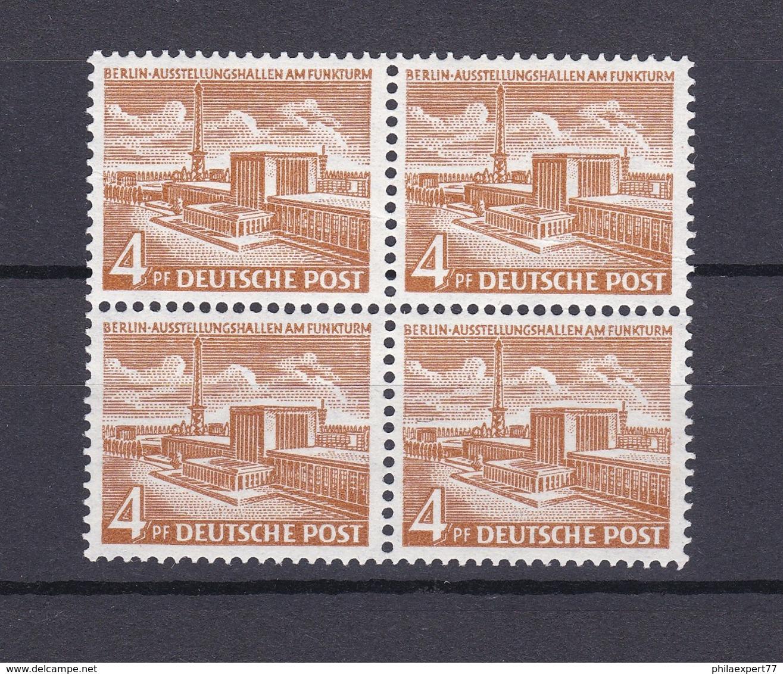 Berlin - 1953/54 - Michel Nr. 112 - Viererblock - Postfrisch - 50 Euro - Ungebraucht