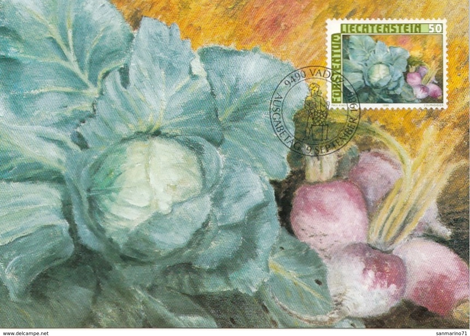 LIECHTENSTEIN Maximum Card 904 - Vegetables