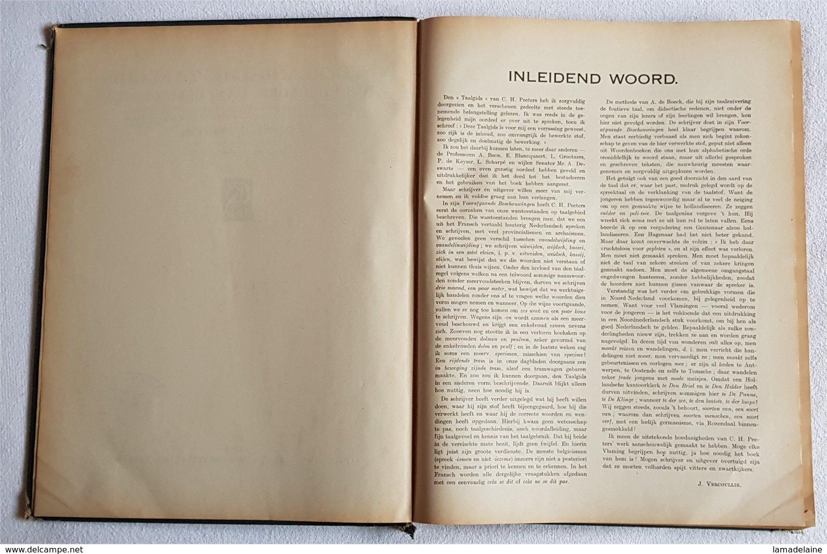 Nederlandsche Taalgids Woordenboek Van Belgicismen (Constant Hubert Peeters) (De Sikkel 1930) - Dictionaries