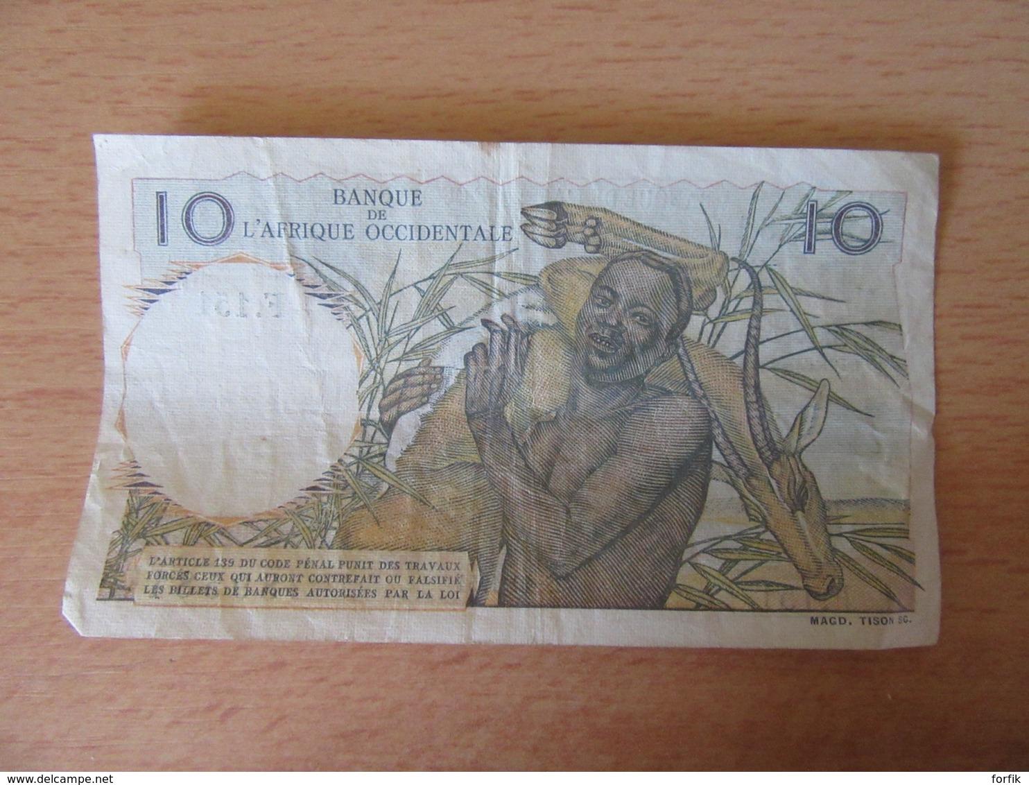 Banque De L'Afrique Occidentale - Billet 10 Francs 28-10-1954 - Alphabet F.151 / 89591 - West-Afrikaanse Staten