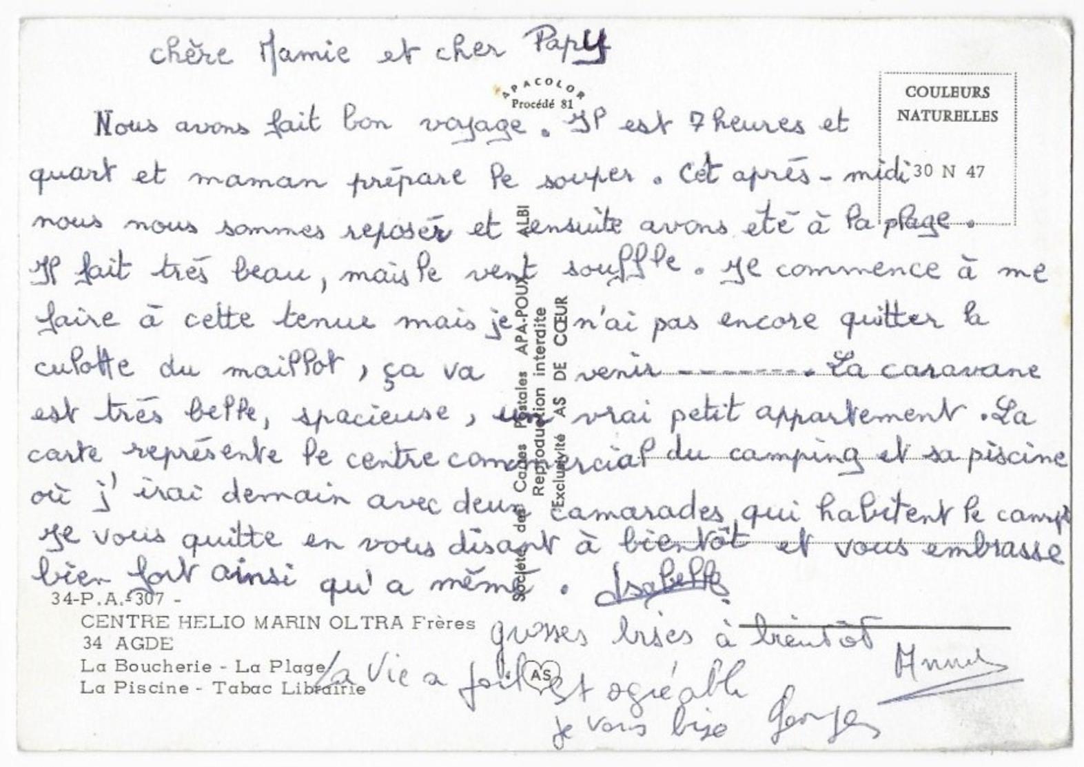 Agde Centre Helio Marin Oltra Frères La Boucherie La Plage La Piscine Tabac Librairie - Fine Nudes (adults < 1960)
