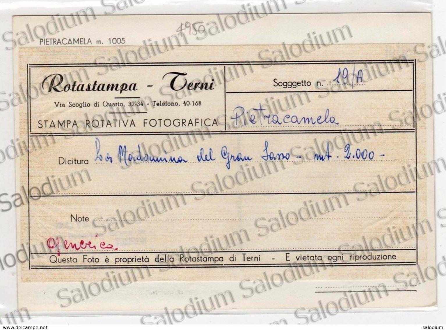 PIETRACAMELA - Vedi Retro - Originale Per Produzione Cartolina - Madonna Del Gran Sasso  Teramo - Teramo